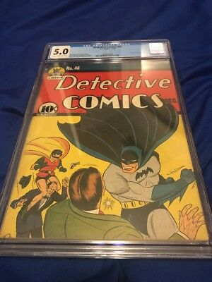 Detective Comics # 46 Dec 1940 Batman CGC 5 Golden Age