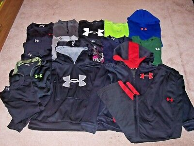 Under Armour Boys Lot Of 16 Long Sleeve Shirts,Hoodie,Pants,Jacket Size Youth XL