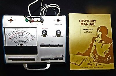 Heathkit FET/Transistor Tester with Manual-Calibrated and Working Fine