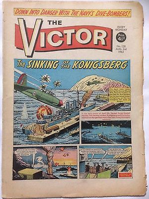 DC Thompson. THE VICTOR Comic August 3rd 1963. Issue 128 *Free UK Postage*