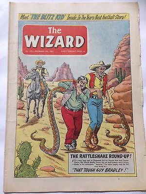 DC Thompson. THE WIZARD Comic December 8th 1962. Issue 1921 *Free UK Postage*