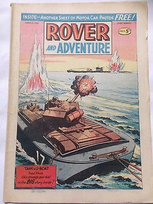 DC Thompson. ROVER & ADVENTURE Comic March 2nd 1963. **Free UK Postage**