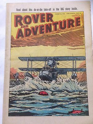 DC Thompson. ROVER & ADVENTURE Comic August 18th 1962. **Free UK Postage**