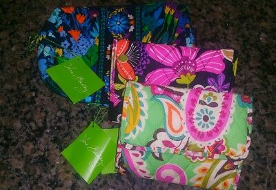 Vera Bradley wallets & cosmetic bag lot NWT