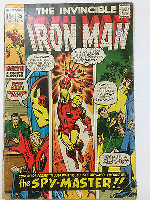 Marvel Comics THE INVINCIBLE IRON MAN 1971 Issue 33 **Free UK Postage**
