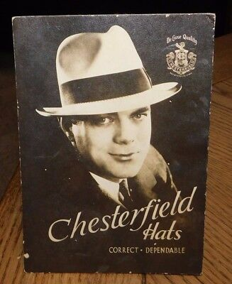 1930's-1940's Chesterfield Hats Ease Back Display Car.!!!!