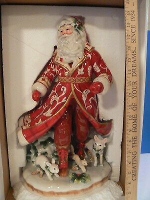 """Fitz and Floyd, Town and Country Large Santa Figurine 18.5"""" Tall"""