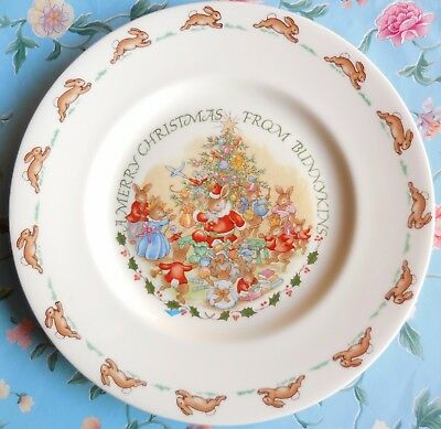 """Royal Doulton Merry Christmas From Bunnykins 8"""" Plate"""