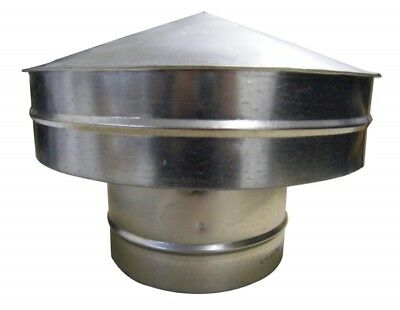 Roof Cap from 80 mm up to 400 mm Flange, China Hat, Rain Cap