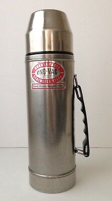 Uno-Vac 1 Qt Unbreakable Stainless Steel Vacuum Quart Thermos Made In USA