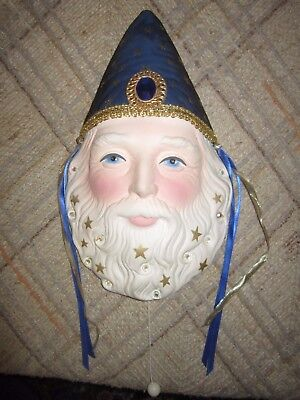 wizard mask wall hanging, music box by Crystal Visions, Marjorie Sarnat