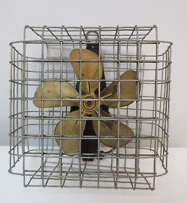 Vintage McLarty Boxed Cage Fan Brass Blades