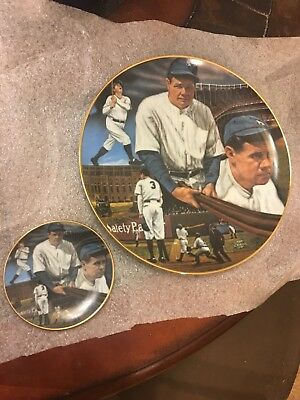 Mint Babe Ruth Sultan of Swat Collector plates-set of two-by Sports Impressions