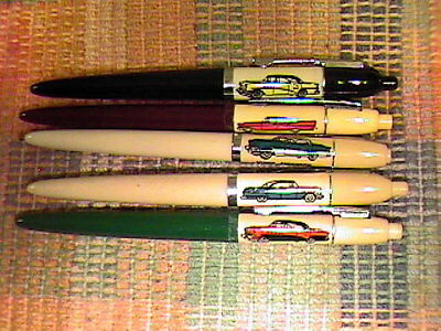 "Vintage Lot Of 5 Advertising ""cars"" Eversharp Double Click Ball Point Pens!!"