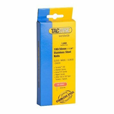 Tacwise 180/30mm Stainless Steel Brad Nails (Pack of 1000)
