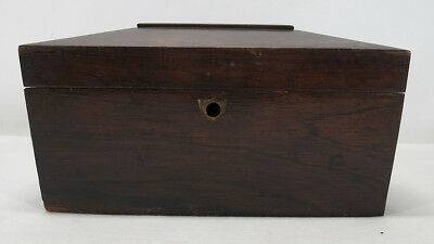 Antique 19th Century English Regency Mahogany Casket Top Tea Caddy Box Chest yqz