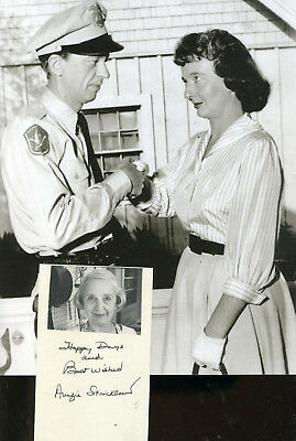Amzie Strickland Andy Griffith Show Actress In 5 Shows Signature & In Role Photo