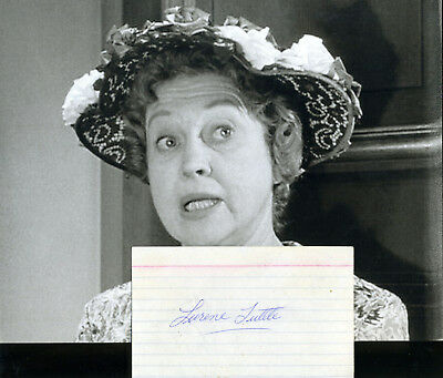Lurene Tuttle Andy Griffith Shopliffer Actress Signature & In Role Photo