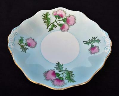 "Vintage 50s FOLEY Staffordshire England GLENCARRY THISTLE 10""d Serving Plate"