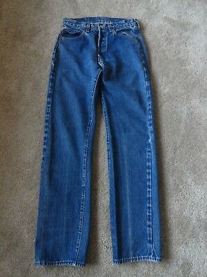 "VTG LEVI 501 REDLINE SELVEDGE JEANS 28"" X 33"" USA double stitch"