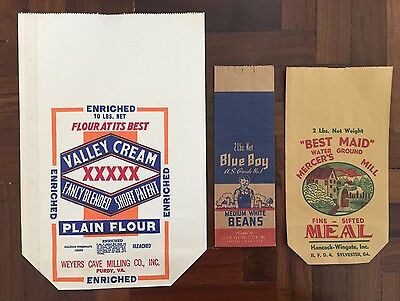 Vintage Food Advertising Valley Cream Flour /Best Maid Meal / Blue Boy Beans NOS