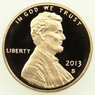 2013 S Deep Cameo Proof Lincoln Shield Cent Penny (B05)