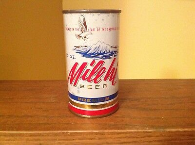 Mile hi Premium Beer flat top beer can From The Mountain Brewing Co., Denver, CO