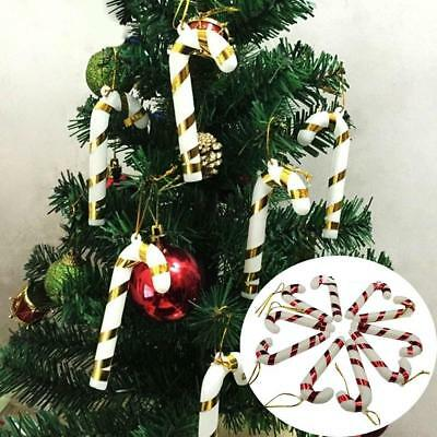 12Pcs Christmas Tree Mini Candy Cane Hanging Holiday Party Ornament Decor Cute