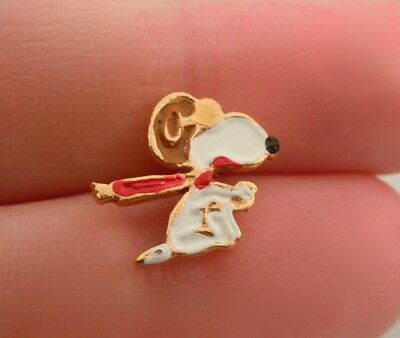 Vintage Snoopy Enameled Pin Red Baron Flying Ace