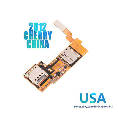 USA For LG Optimus G Pro E980 Micro SD Sim Card Holder Connector Flex Cable Part