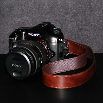 DSLR SLR Camera Neck Shoulder Leather Strap for Canon Sony nikon Pentax Fujifilm