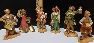 Vintage Fontanini Lot of 6 1995  Depose Figures Italy NICE!! NO BOXES!!