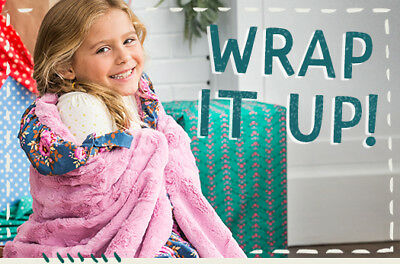 NWT & Bag Matilda Jane Make Believe Wrap It Me Up So Soft Blanket Holiday 2017