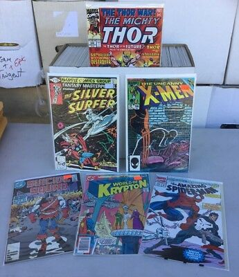 Huge lot of 150  marvel and D.C. Comics nice collection Storage Unit Find