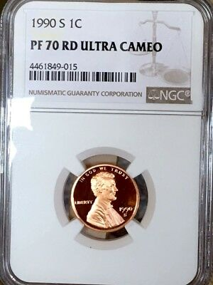 1990-S Lincoln NGC PF 70 Red Ultra Cameo! * $190 Price Guide - RARE! *