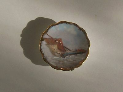 Limoges France Small Sailing Ship Plate