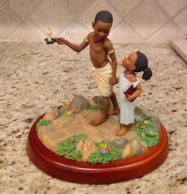 Thomas Blackshear Ebony Visions GUIDED BY THE LIGHT First Issue Figurine