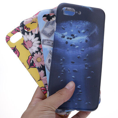 3D Printed Soft Plastic Protective Phone Cover Case For iPhone 7 Plus / 8 Plus