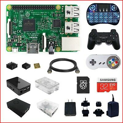 Raspberry Pi 3 Model B Build-It-Yourself (BIY) Kit, BLK