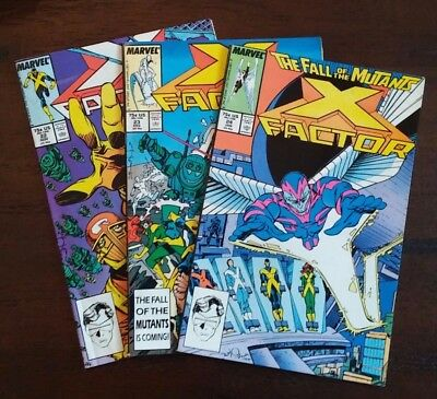 X-Factor Lot of 3 (#22, #23, & #24), VF, Key Cameo & First Appearance Archangel