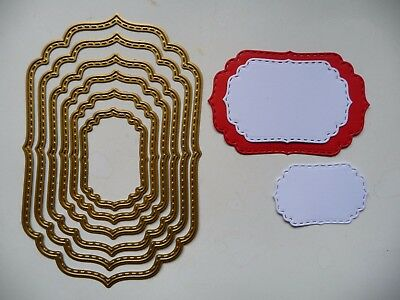 Thin Metal Cutting Die Nesting Stitched Labels Nested Dies Sizzix