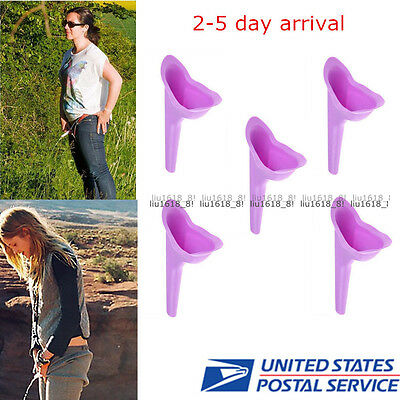 5x Women Portable Urinal Camping Travel Urination Device Urine Funnel Toilet USA