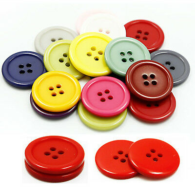 Round Resin 4-Hole Flat Button Sewing Crafts For Jackets Coats Shirts Suits DIY