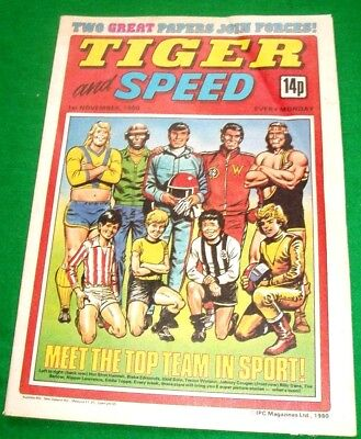 Tiger  1/11/1980 With  Wolves  League Cup Wnners Team Colour Centrefold Poster