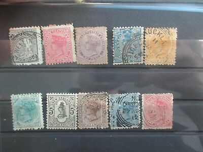 New Zealand Stamps: 1882 Second Sidefaces 5d Grey Mint Rest Used  (F65)