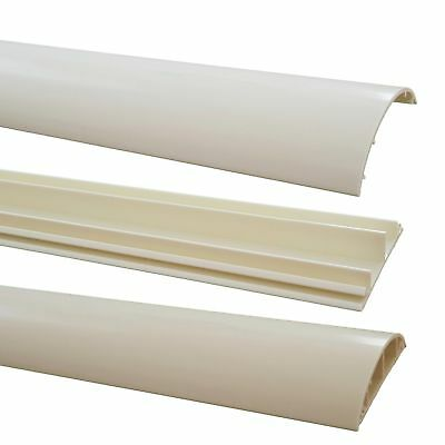 Floor Cable Channel 1m Self Adhesive 70mm Wide White