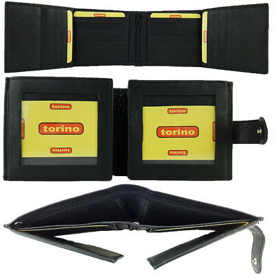 Genuine Full Grain Leather Mens Wallet Credit Card Holder Coin Pouch