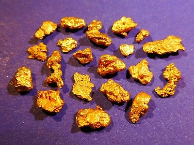 20 Sparkling Clean Australian Gold Nuggets ( 4.73 grams ). + FREE GIFT.