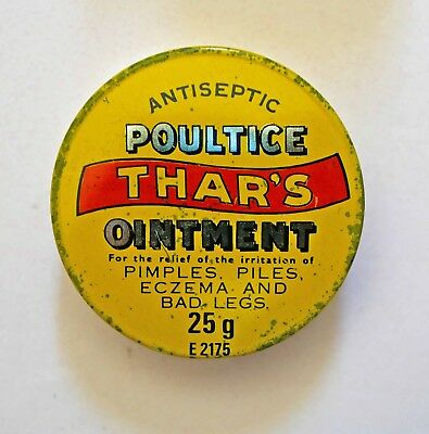 Thars Antiseptic POULTICE ointment Vintage tin Can