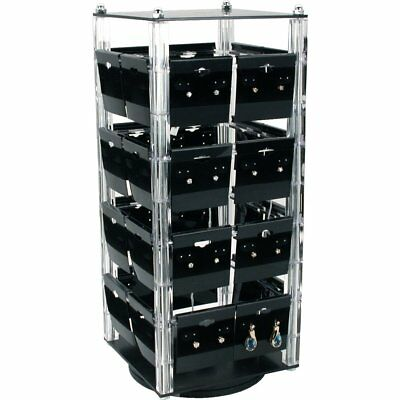 "Revolving Rotating Earring Display Jewelry Counter Top with 100 2"" Cards"